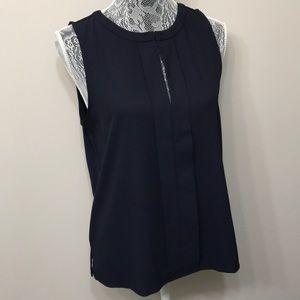 Ann Taylor women's dark blue blouse